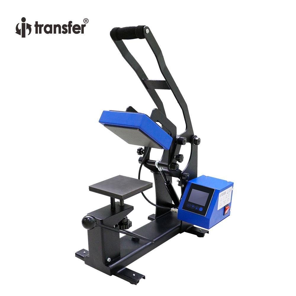 Je-transfert Nouvelle Arrivée 4.72 x 4.72 T-shirts etc. logo Presse de La Chaleur Machine Imprimante LCD Écran Tactile Contrôleur HPM-45C