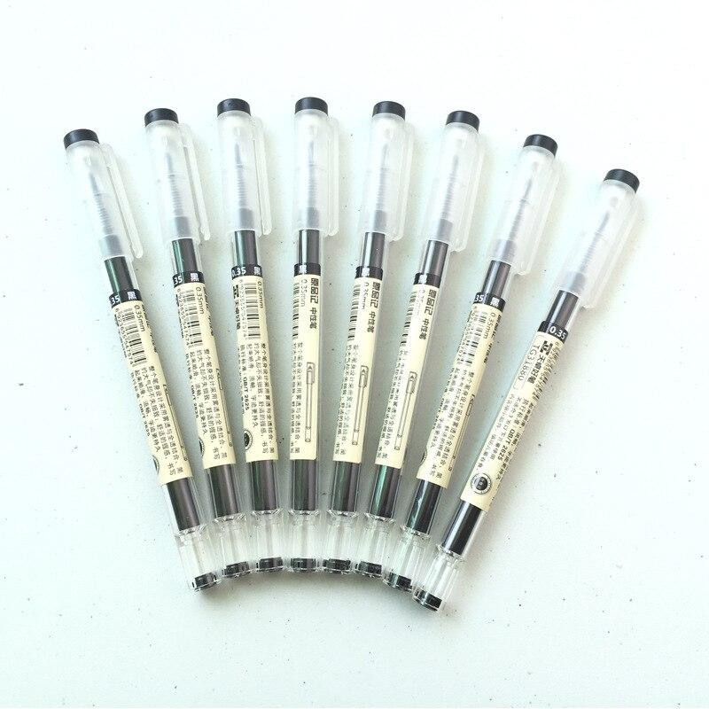 6Pcs 0 35mm Black blue Red Ink Gel Pens Set Refills Gel Ink Pen Sketch Drawing