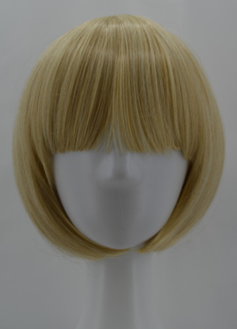 Synthetic None-lacewigs Cosplay Wig Fei-show Synthetic Heat Resistant Fiber Wavy Sky Blue Inclined Bangs Hair Student Hairpiece Short Salon Party Peruca Hair Extensions & Wigs