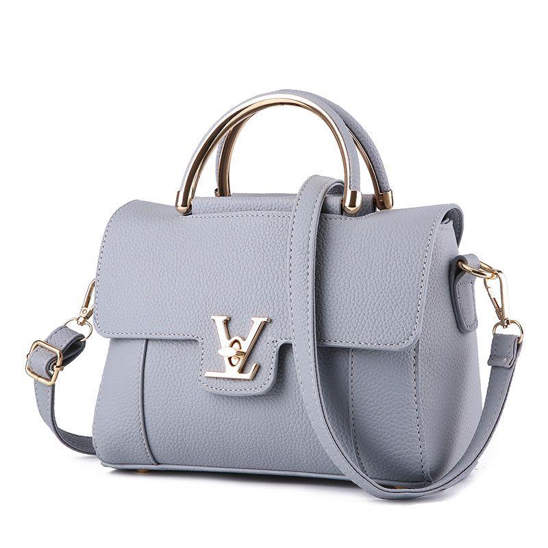 2017 Women Handbags of Famous Brands V Letter Leather Saffiano Handbag Luxury De