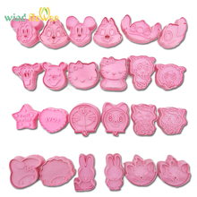 Wind flower 2 Pcs/Set DIY Cartoon Baking Mould Biscuit Cookie Cutter 3D Three-Dimensional Biscuits Mold
