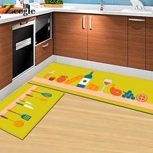 Zeegle Kitchenware Printed Entrance Mats Kitchen Rugs Carpet For Living Room Anti-Slip Bathroom Rug Home Coffee Table Floor Mats