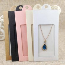Kraft  Necklace Card & Hang Window Box /Black/White 13.5X6.5CM Earring ifg BOX accept custom