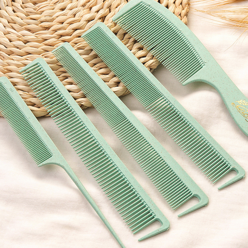 Hot Sale 5pc Hair Combs Anti-static Carbon Hair Brushes Pro Salon Hair Styling Tools Hairdressing Hair Care Barbers Handle Brush