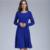 Emoção Mães Sólidos O Pescoço Longo Manga Vestidos de Amamentação Enfermagem da Maternidade Roupas Confortáveis para Mulheres Grávidas vestido Longo