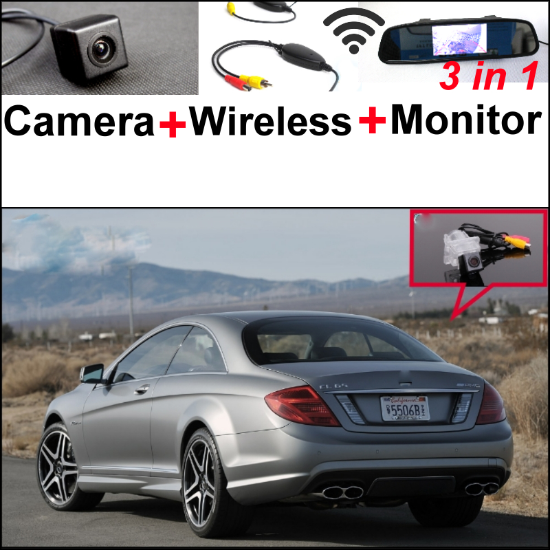 3in1 Special WiFi Camera + Wireless Receiver + Mirror Monitor Parking System For Mercedes Benz CL Class MB CL500 CL600 CL63 CL65 wireless pager system 433 92mhz wireless restaurant table buzzer with monitor and watch receiver 3 display 42 call button