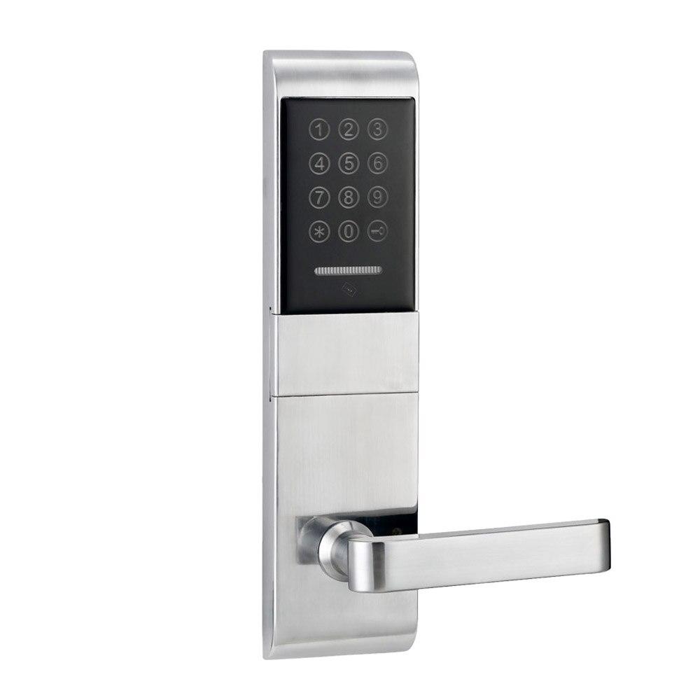 Touch Screen Electronic smart Door Lock Code, 2 ID Cards, 2 Keys Digital Password Lock Keyless lk1078BSTouch Screen Electronic smart Door Lock Code, 2 ID Cards, 2 Keys Digital Password Lock Keyless lk1078BS
