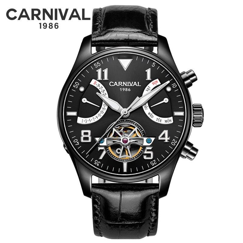Super Nuovo Modello GUANQIN Originale Tourbillon degli uomini di affari della vigilanza superiore di marca di lusso di Scheletro Zaffiro orologio uomo Relogio Masculino - 6