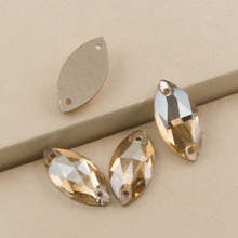 3223 Navette 6x12 9x18mm Crystal Golden Shadow Strass Rhinestones For Clothes Sew on Flatback