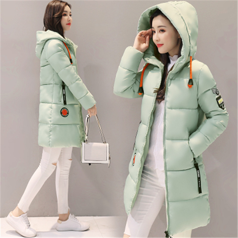 HTB1UEH3sRsmBKNjSZFFq6AT9VXag Parka Women 2019 Winter Jacket Women Coat Hooded Outwear Female Parka Thick Cotton Padded Lining Winter Female Basic Coats Z30