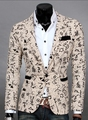 Hot Sale 2016 new men's slim fit three-dimensional cut suit jacket men's Casual  suits small  Floral jackets coat