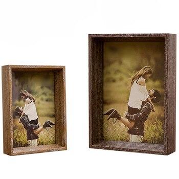 בציר עץ תמונה מסגרת חתונה Casamento תמונות מסגרות Besktop קישוט משפחת תמונה תצוגה מחזיק מסגרות portafoto