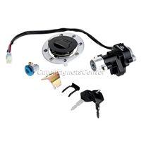 Aluminum Motorbike Ignition Lock Seat Lock Gas Cap Lock + Master Keys for Suzuki SV650 1999 2002 Suzuki Vstorm 1000 DL1000 02 09