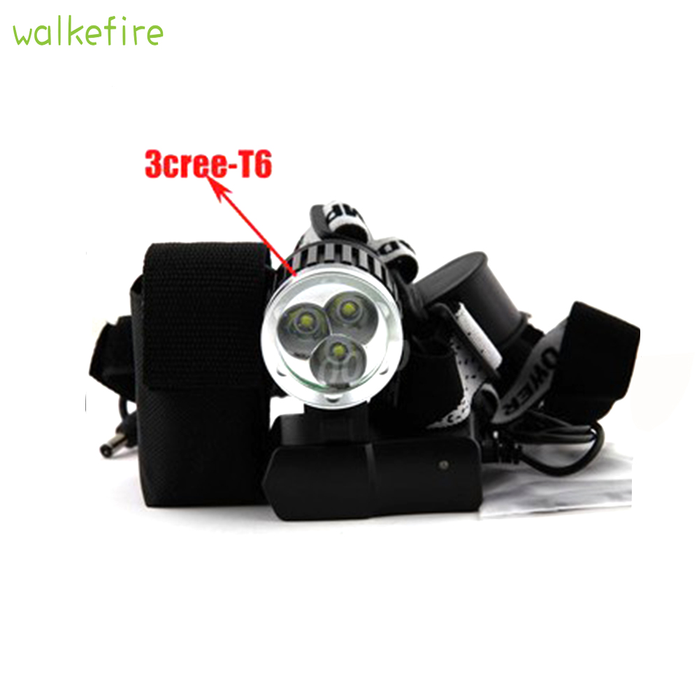Walkfire 3800LM 3x XML T6 LED Bicycle Front Light, Bike Head Light Lamp Cycling Hunting Flashlight 8.4v+ 6400mAh Battery Pack sitemap 33 xml