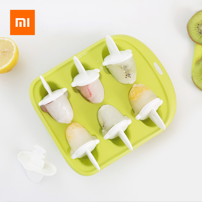Xiaomi 6 Grids Food Grade Icy Tray Cute Whale Shape Ice Cream Popsicle Mold Creative Small Fruit Ice Cube Maker For Kitchen-in Smart Remote Control from Consumer Electronics