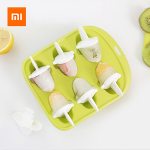 Xiaomi 6 Grids Food Grade Icy Tray Cute Whale Shape Ice Cream Popsicle Mold Creative Small Fruit Ice Cube Maker For Kitchen недорого