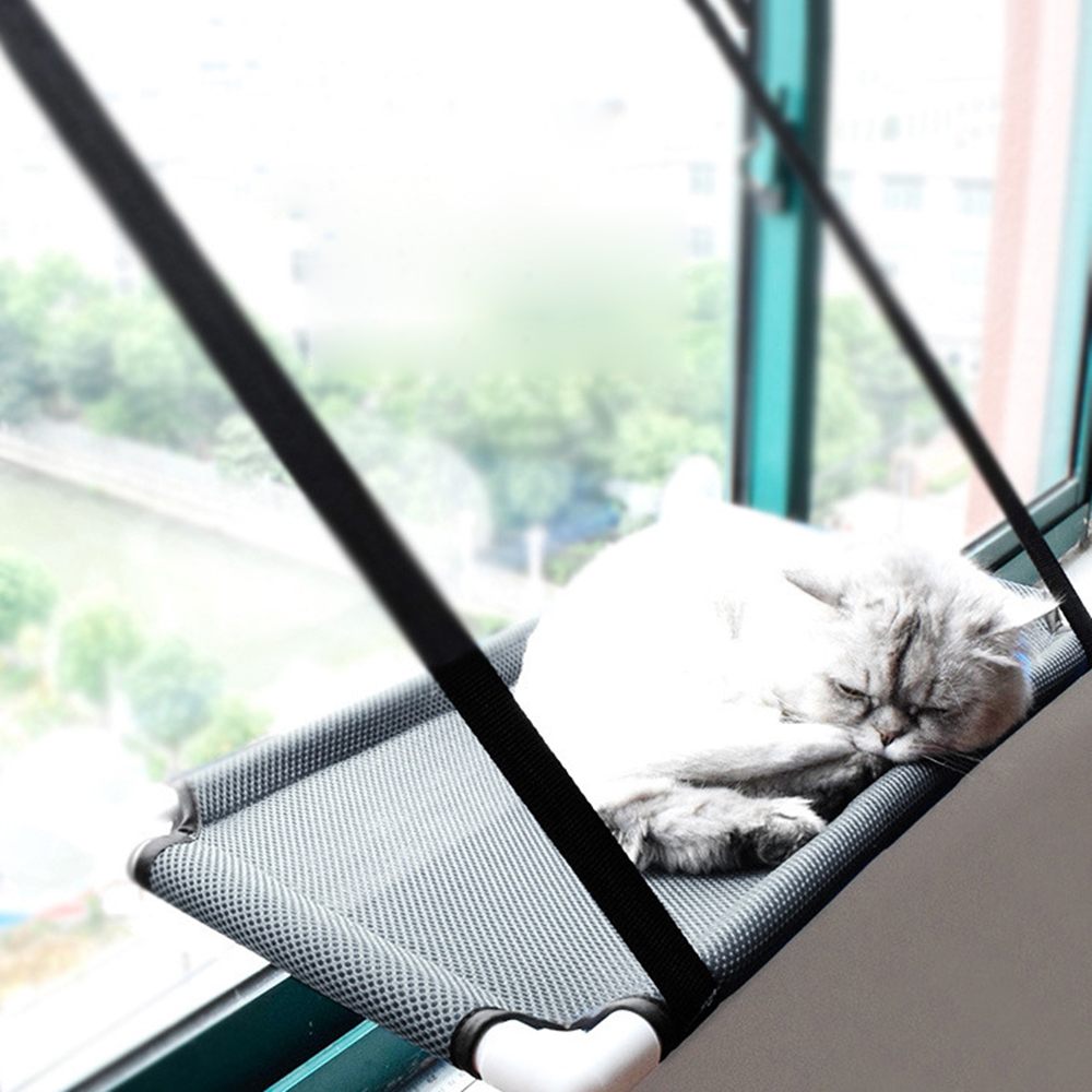 Fantastic Us 17 08 36 Off New Creative Cat Perch Window Seat Sandwich Mesh Hammock Cattery With Suction Cap For Pet Cats Rest Sun Bask Cat Beds Hammock In Cat Dailytribune Chair Design For Home Dailytribuneorg