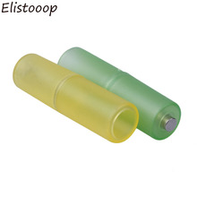 Elistooop 10 قطعة AAA إلى AA حجم صندوق بطارية الخليوي محول محول بطاريات حامل البلاستيك حالة الجلاد ل AAA إلى AA بطارية