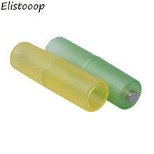 Elistooop 10Pcs AAA כדי AA גודל תא סוללה תיבת ממיר מתאם סוללות מחזיק פלסטיק מקרה Switcher עבור AAA כדי AA סוללה