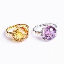 Женское кольцо из серебра 925 пробы с натуральным камнем