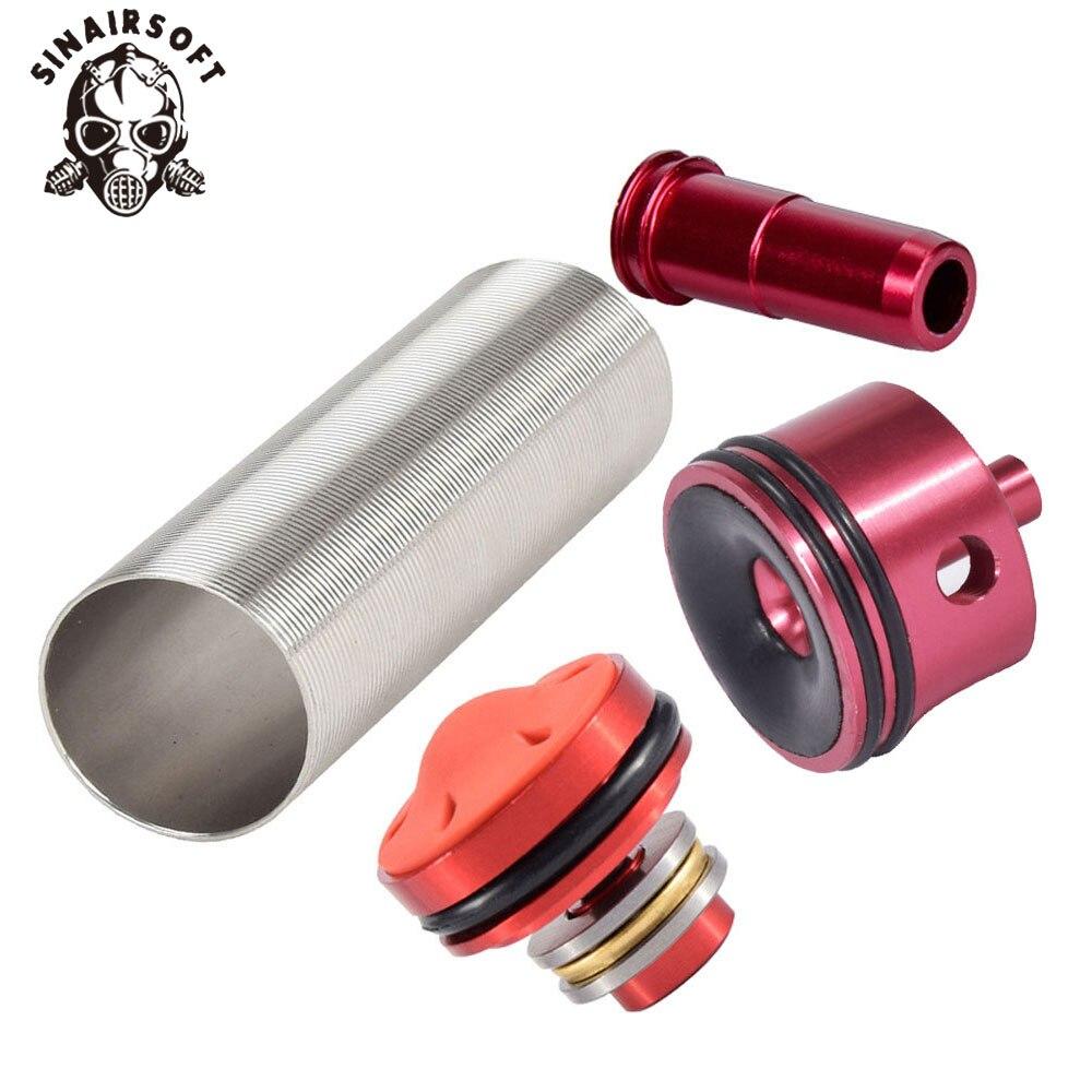 SINAIRSOFT Vendita Calda MA 4 pz Cilindro Testa/Testa del pistone/ugello/Cilindro Set Per M4 Series Airsoft AEG Caccia Accessori