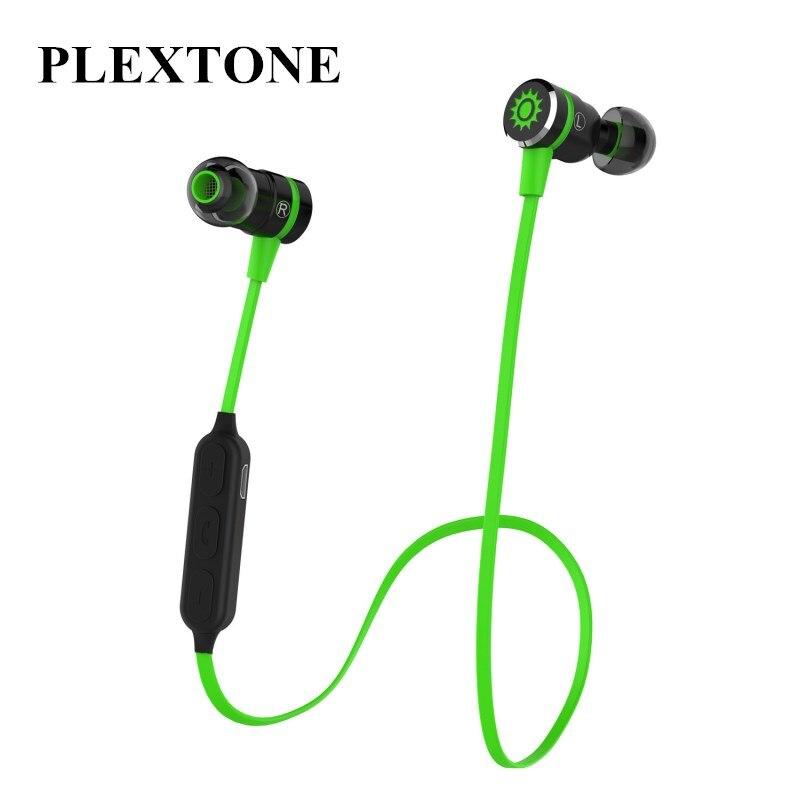 Plextone BX335 Sports Bluetooth Earphone Stereo Wireless Bluetooth 4.1 Headset Smart Magnetic Turn On/Off Headphone for Phone