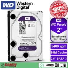 Western Digital WD purple 2 ТБ HDD NVR система SATA 3.5 наблюдение внутреннего жесткого диска системы безопасности disque мажор рабочего стола сервера