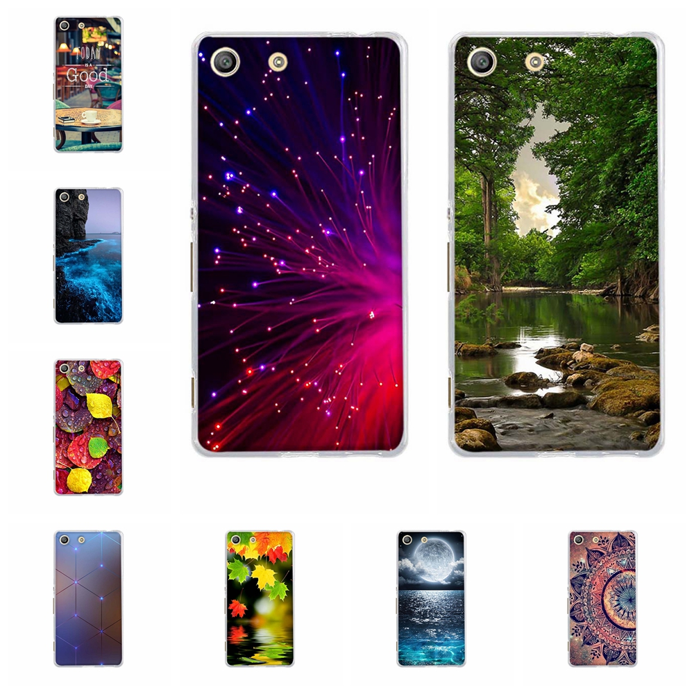 For Sony Xperia M5 Soft Silicone Case Cover For Sony Xperia M5 E5603 E5606 E5653 TPU Patterned For Sony M5 Phone Housing 3D