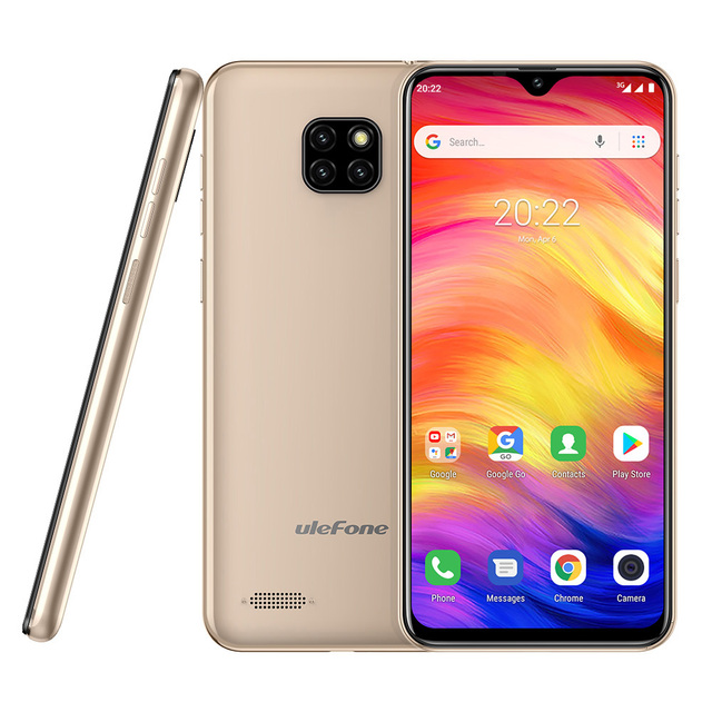 Ulefone Note 7 Smartphone 3500mAh 19:9 Quad Core 6.1inch  Waterdrop Screen 16GB ROM Mobile phone WCDMA Cellphone  Android8.1 2