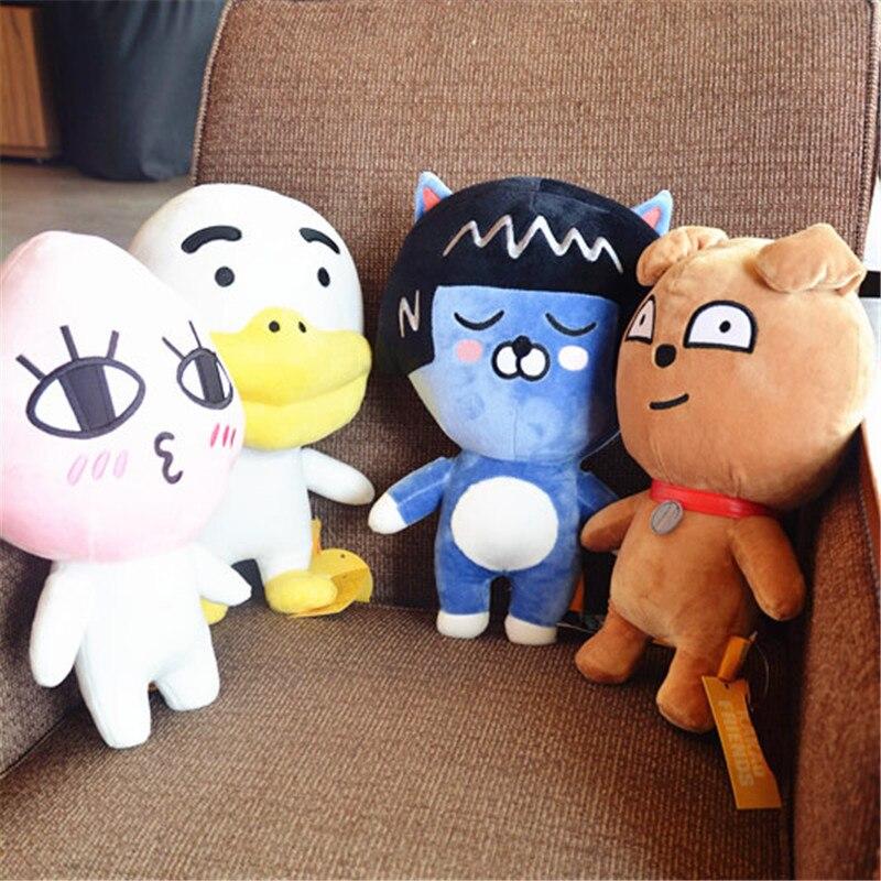 359a26bdd65 1pc 40cm Korea kakao friends cat plush toy card test fart peach Jun Ryan doll  gift