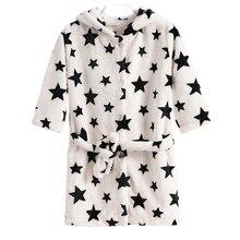 Купить с кэшбэком Baby Bathrobes For Children Kids Boys Girls Hooded Terry Bathrobe Winter Baby Minnie Bath Robes Towel Velvet Pajamas Gown