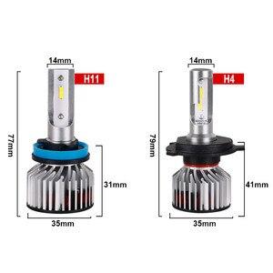 Image 5 - Hlxg Mini H4 LED H7 H11 H8 HB4 H1 HB4 HB3 CSP سيارة المصابيح الأمامية 8000LM 6000K 12 فولت لا راديو إنتيفينس مكافحة EMC FM وميض 36 واط