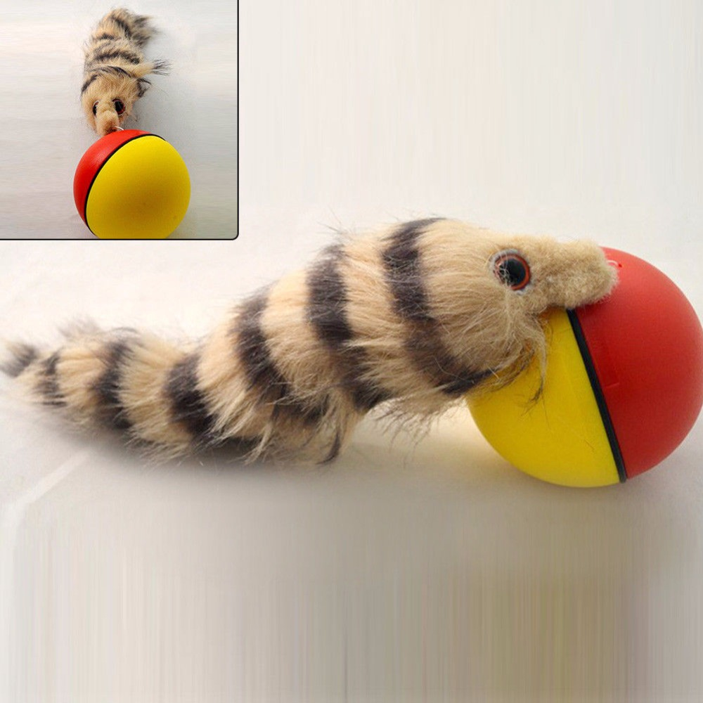 Pet Dog Cat Toys Funny Moving Attractive Electric Beaver Rolling Ball Pet Dog Cat Toy Jump Moving Self Rolling Beaver Ball Toy