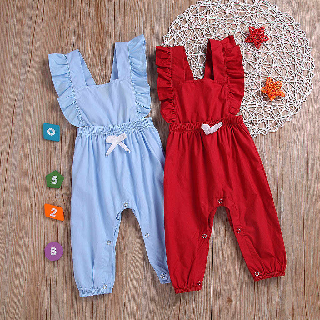 Боди для малышей, одежда для маленьких девочек, летняя одежда для маленьких мальчиков и девочек, комбинезон без рукавов с оборками и принтом, детская одежда из хлопка, #06
