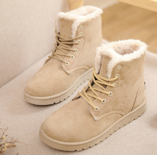 2015 Autumn Winter Ankle Boots Women Winter Shoes Flat