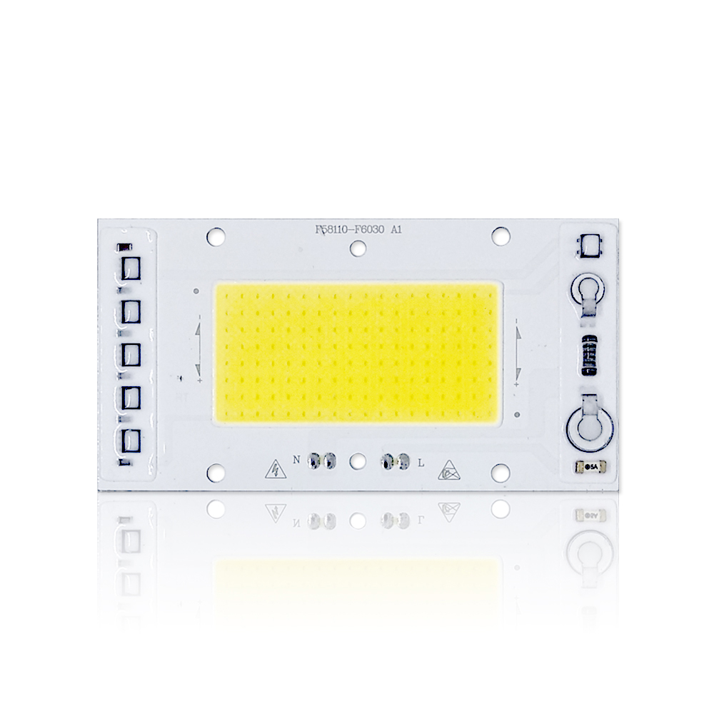 10 PCS LED COB Chip Lamp 30W 40W 50WAC 220V Smart IC Fit For DIY Floodlight White 20w led chip xhp50 cob lamp