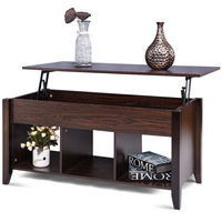 Giantex Lift Top Coffee Table with Hidden Compartment Storage Shelf Modern Wood Living Room Furniture HW56639BK