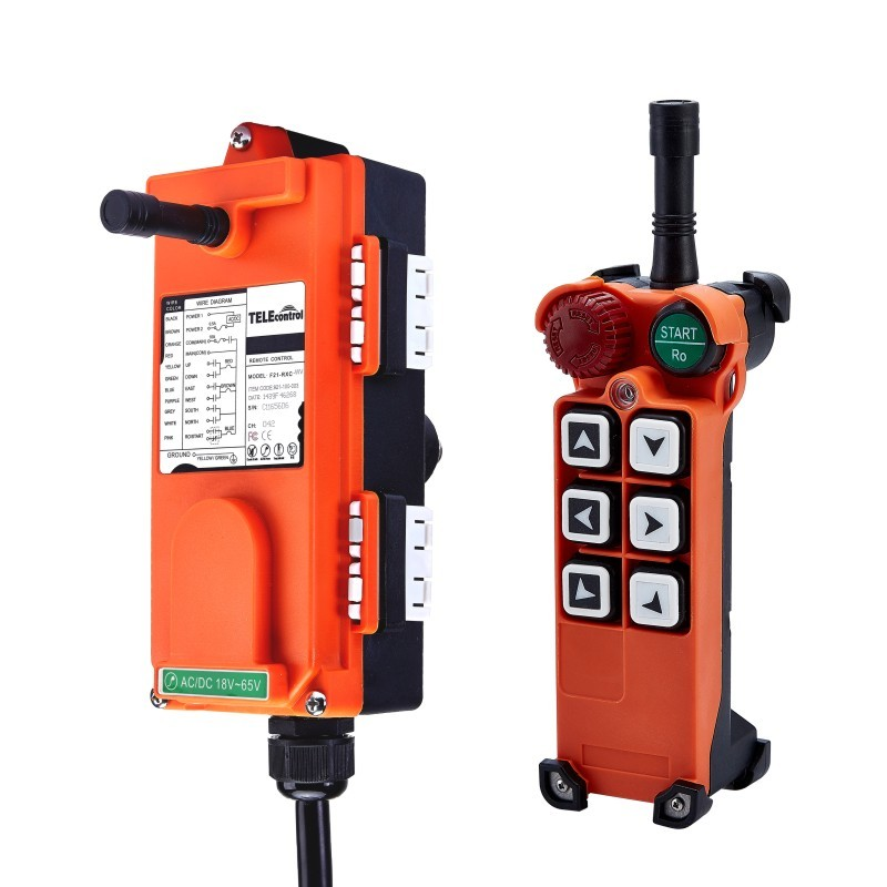 F21-E1(include 1 transmitter and 1 receiver)6 buttons 1 Speed Hoist crane remote control wireless Uting remote control Switch hoist crane remote control wireless radio uting remote control f21 e1b include 1 transmitter and 1 receiver 6 buttons 1 speed