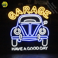 Garage Car Have A Good Day Neon Sign neon Signs Glass Tube neon lights Recreation Garage Windows Iconic Sign Neon Light LAmps