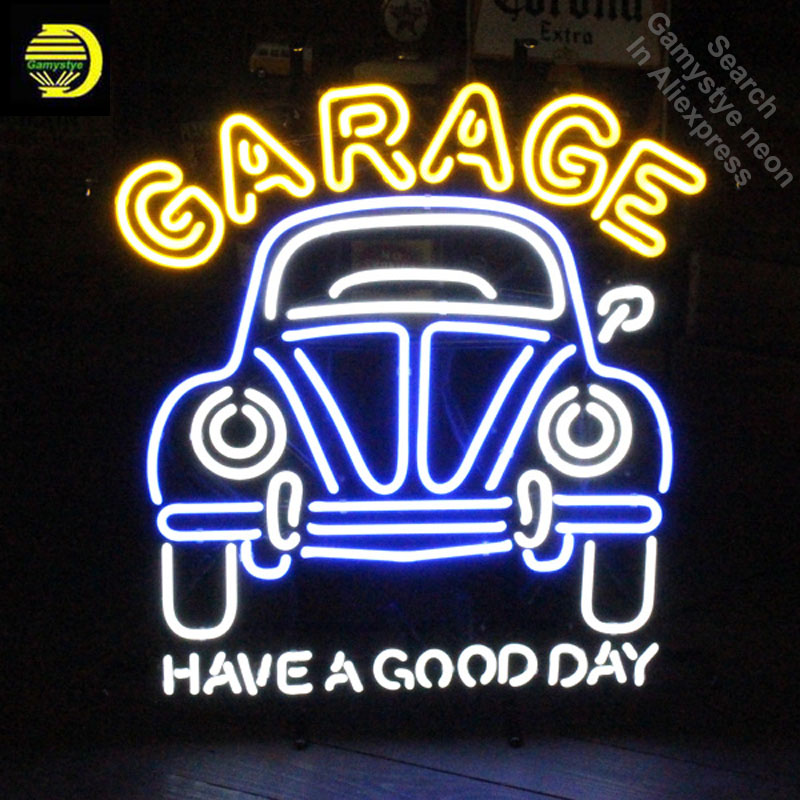 Garage Car Have A Good Day Neon Sign neon Signs Glass Tube neon lights Recreation Garage Windows Iconic Sign Neon Light LAmps image