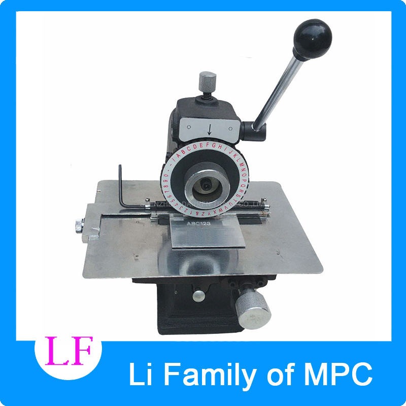 Manual Nameplate Marking Machine manual semi-automatic pressure plate smashing card embossing machine tool plotter automatic metal nameplate marking machine