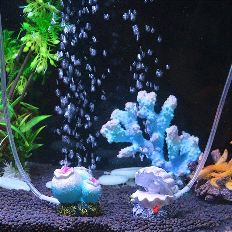 Competent Aquarium Aquarium Simulatie Aërobe Decoratieve Bubble Stone Coral Vulkaan Shell Conch Home Decoratie Voor Fish Kleuren Zijn Opvallend