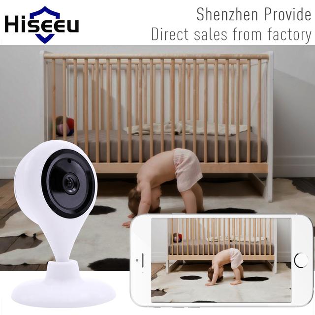 Hiseeu 720 p hd câmera ip sem fio wi-fi cartão tf de armazenamento visão noturna de Segurança de Rede H.264 P2P Wi-fi CCTV Defensor Da Família FH8