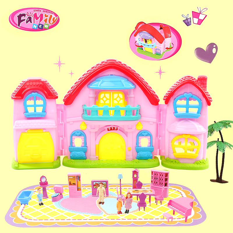 Doll House Furniture Miniature Plastic Dolls Pretend Toy American Girl  Dollhouse Kids Christmas Gifts In Model Building Kits From Toys U0026 Hobbies  On ...