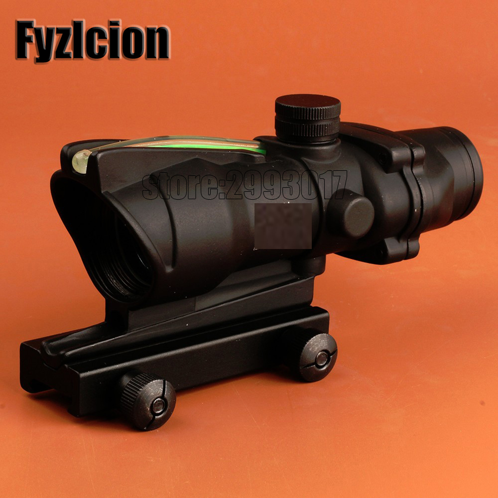 FYZLCION ACOG 1x32 Crosshair Green and Red Point Range With Red Dot Sight Tactical Shooting/Hunting Range tactical m4 1x33 red dot collimating sight with red and green illumination for hunting shooting hunting