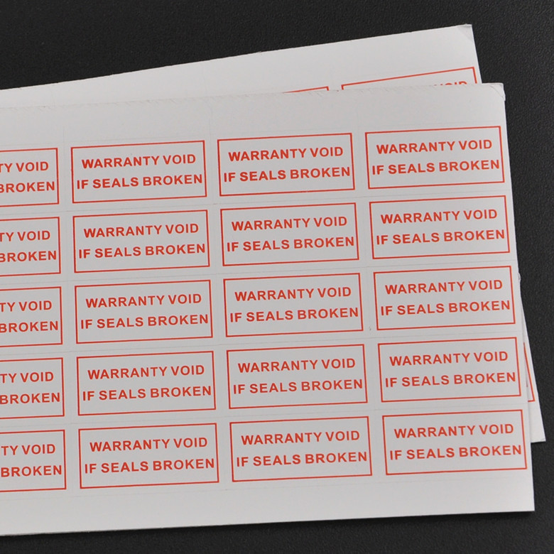 Free shipping warranty card invalid tags, if stickers torn