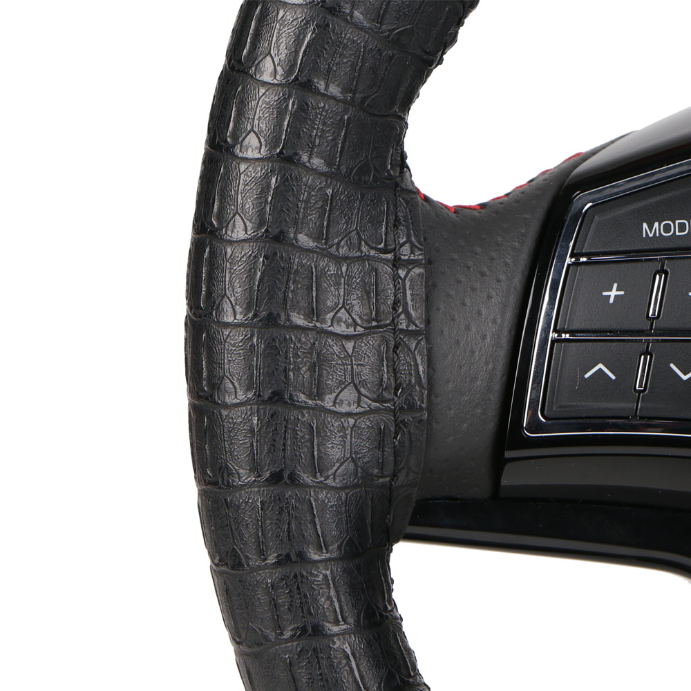 Synthetic Leather DIY Wrap Steering Wheel Cover/Artificial crocodile skin steering Grip  ...