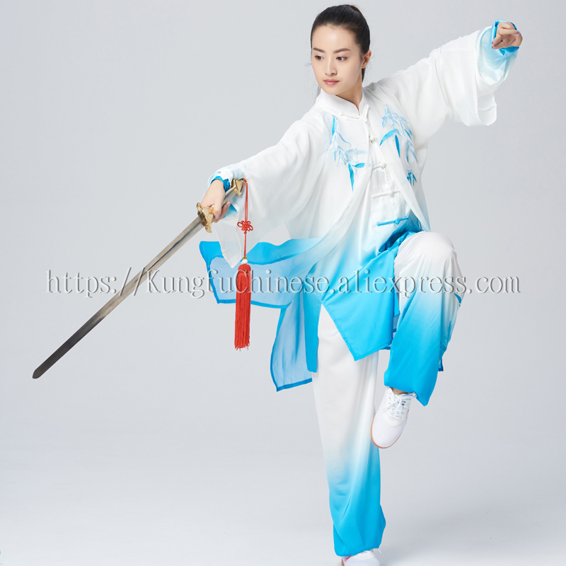 Embroidery Chinese Tai chi clothes Martial arts uniform taiji boxing suit Kungfu outfit for women men