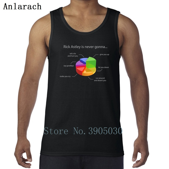 Rick Astley Pie Chart Vests Kawaii Character Fashion Xs 2xl Tank Top