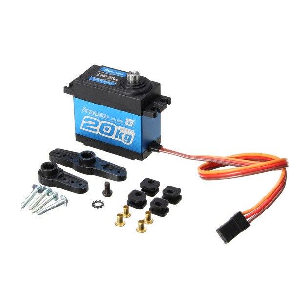 Puissance HD LW-20MG étanche numérique Servo pour 1/10 1/8 RC voiture RC modèle JR/futaba Compatible